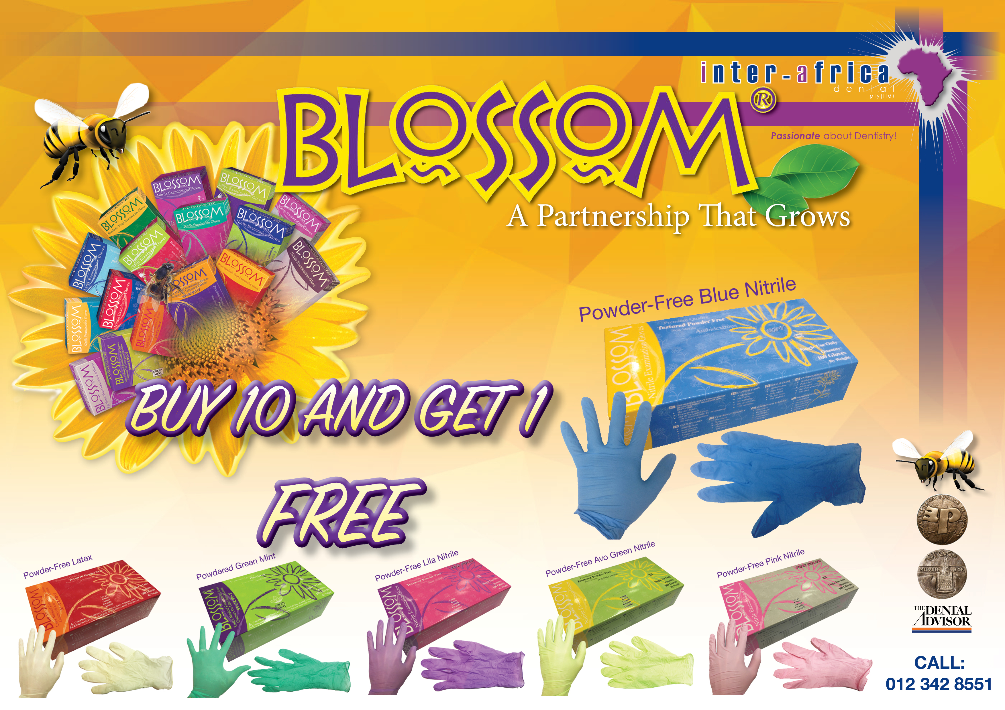 Blossom Gloves | Dental Supplier South Africa - Inter Africa Dental